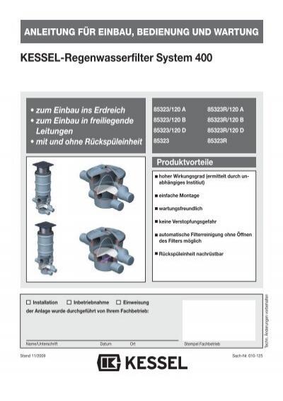 KESSEL-Regenwasserfilter System 400