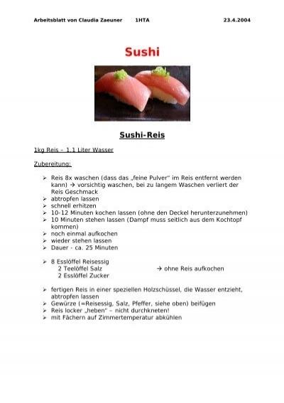 Protokoll über Sushi