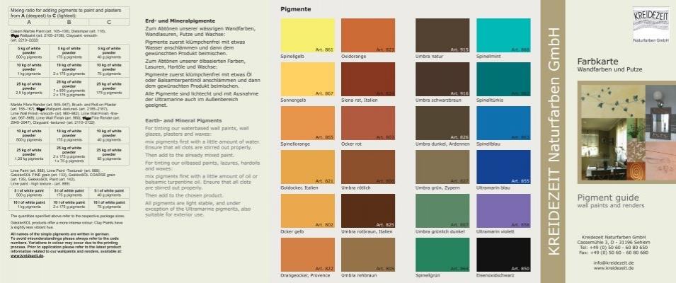 Online Farbkarte Wandfarben Und Putze   Kreidezeit Naturfarben .