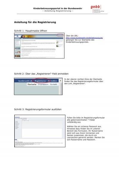 Registrierung Web De