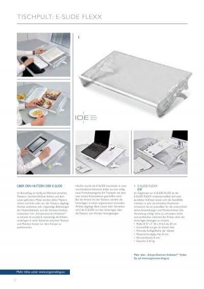 tischpult e slide flexx. Black Bedroom Furniture Sets. Home Design Ideas