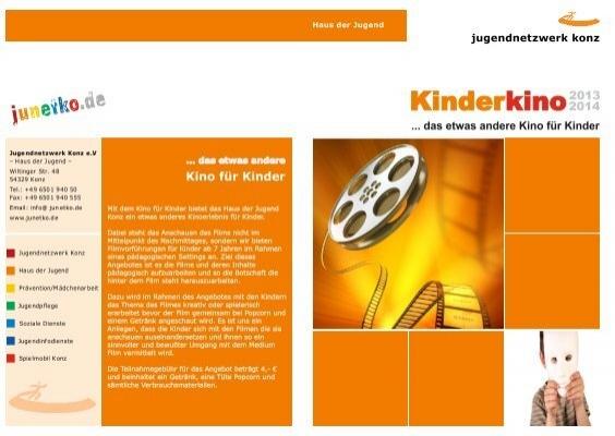 mit dem kino f r kinder bietet das haus der jugend konz junetko. Black Bedroom Furniture Sets. Home Design Ideas