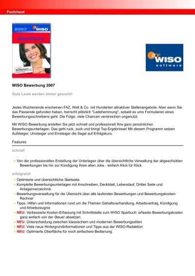 wiso bewerbung 2007 - Wiso Bewerbung