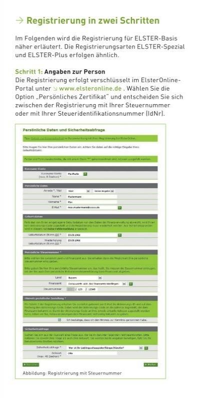 registrierung bei elster