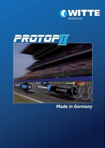 Witte PROTOP II impact Werkstatt-Schraubendreher 1,0 x 5,5 mit Sechskant
