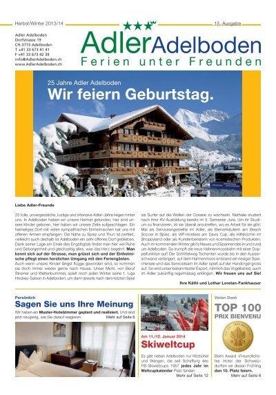 Inforama Magazin by Tourist Center Adelboden - issuu