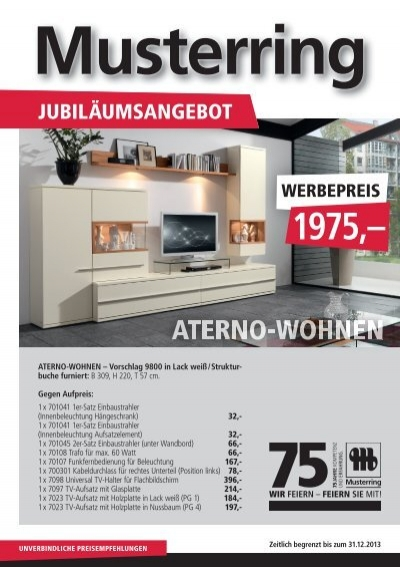musterring jubil. Black Bedroom Furniture Sets. Home Design Ideas