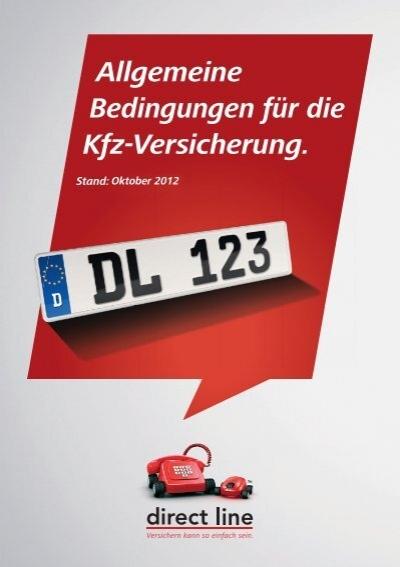 Allgemeine Bedingungen Fur Die Kfz Direct Line Versicherung Ag