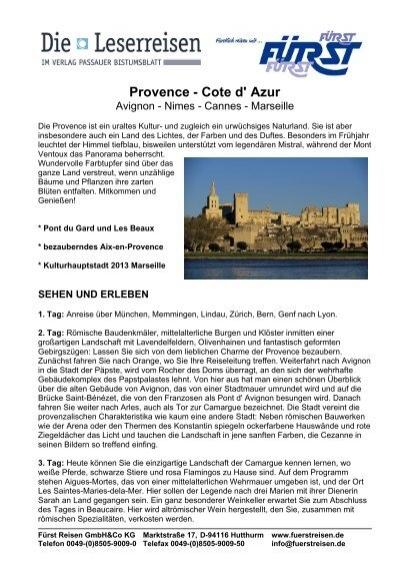 Provence - Cote d\' Azur - Passauer Bistumsblatt