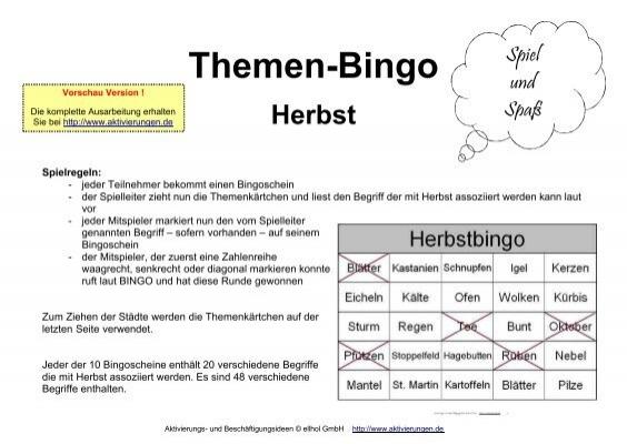 bingo spielregeln pdf