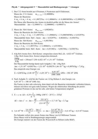 Physik * Jahrgangsstufe 9