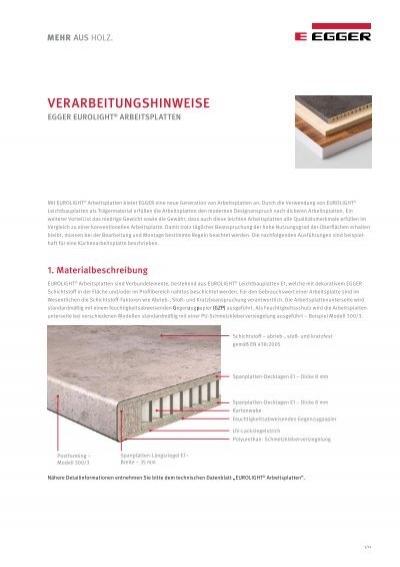 eurolight arbeitsplatten pdf. Black Bedroom Furniture Sets. Home Design Ideas