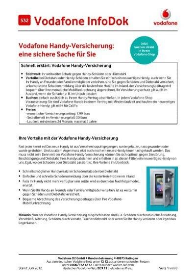 Infodok 532 Vodafone Handy Versicherung