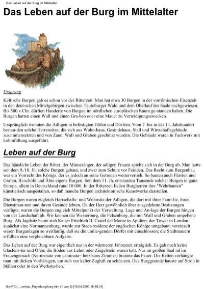 Burg Im Mittelalter Arbeitsblatt : Das leben auf der burg im mittelalter poprawka