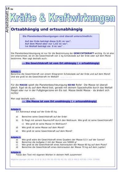 Erfreut Auftrieb Arbeitsblatt Mittelschule Galerie - Arbeitsblatt ...