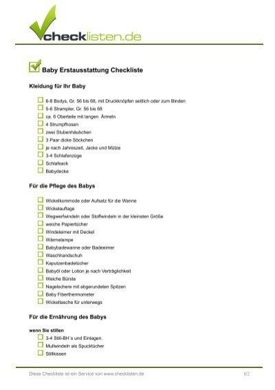 baby erstausstattung checkliste. Black Bedroom Furniture Sets. Home Design Ideas