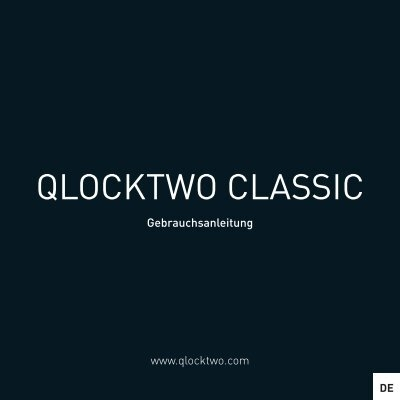 bedienungsanleitung qlocktwo classic. Black Bedroom Furniture Sets. Home Design Ideas