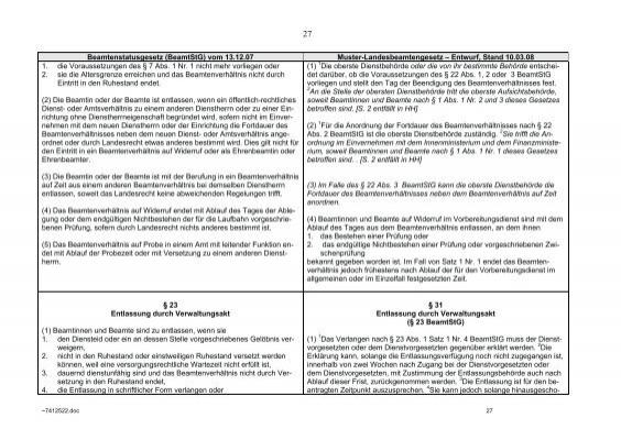 26 beamtenstatusgesetz b - Versetzungsantrag Beamte Muster