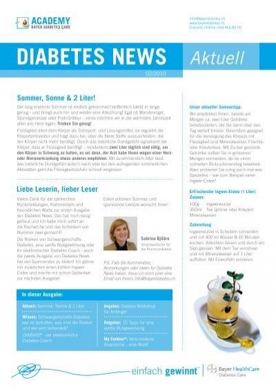 Bayer diabetes schweiz