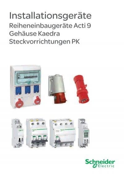 4x Schneider Electric iC60N C 63A Leitungsschutzschalter LS Schalter 1polig