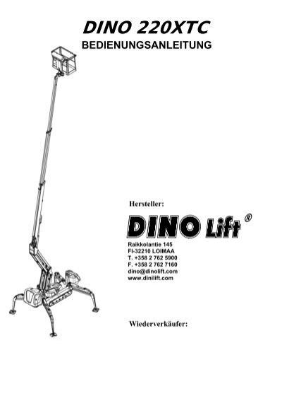 BEDIENUNGSANLEITUNG - Dinolift
