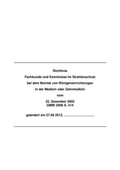 richtlinie strahlenschutz in der medizin 2020