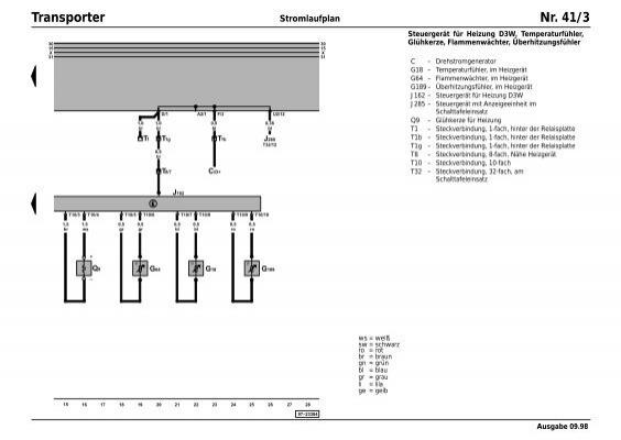Transporter Stromlaufplan