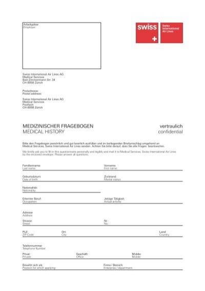 Briefumschlag Beschriften Persönlich Vertraulich : Medizinischer fragebogen vertraulich medical swiss