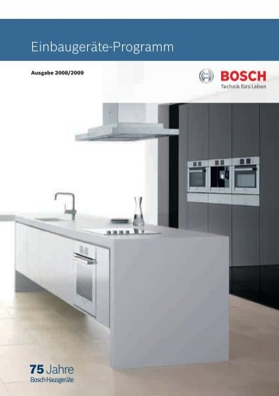 Einbaugerate Programm Bosch Home Com