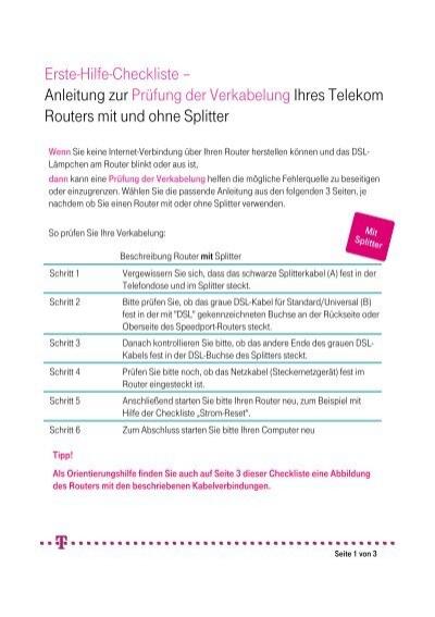 Anleitung Verkabelung - Telekom