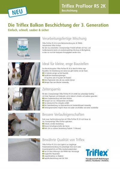 triflex profloor rs 2k die triflex balkon beschichtung der 3. Black Bedroom Furniture Sets. Home Design Ideas