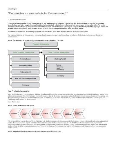 Was verstehen wir unter technischer dokumentation weka for Technische mechanik verstehen