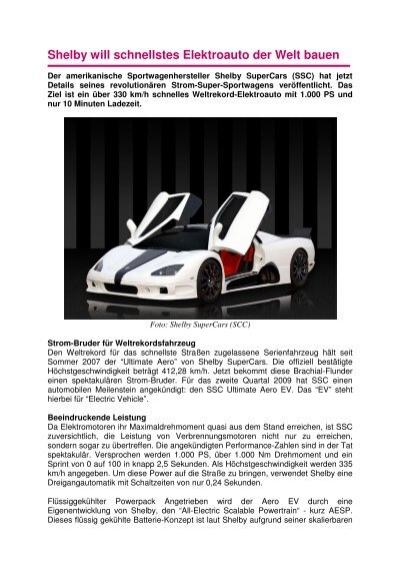 shelby will schnellstes elektroauto der welt bauen. Black Bedroom Furniture Sets. Home Design Ideas
