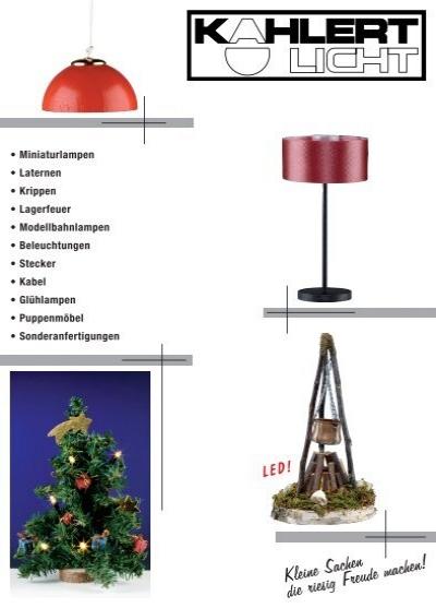 Kahlert mit Kabel und Stecker  -NEU//OVP leuchtet ROT Flacker-LED 3,5 Volt