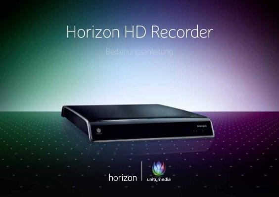 unitymedia horizon recorder