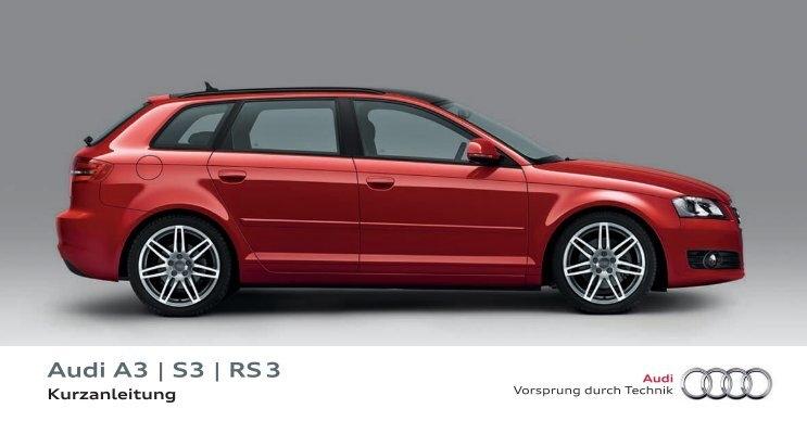 Kurzanleitung Audi A3 Sportback