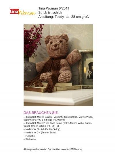 tina woman 6 2011 strick ist schick anleitung teddy wunderweib. Black Bedroom Furniture Sets. Home Design Ideas