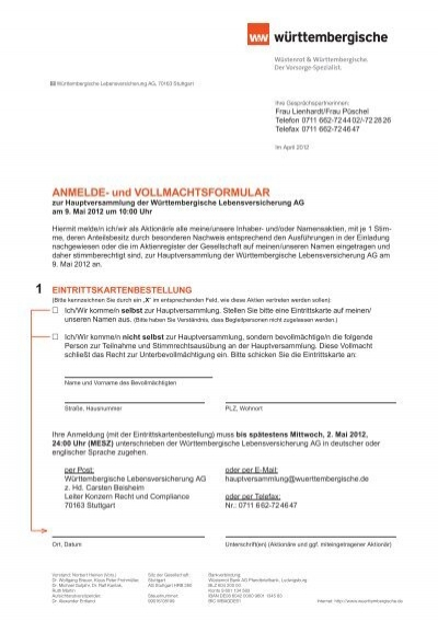 Download Vollmachtsformular Fielmann