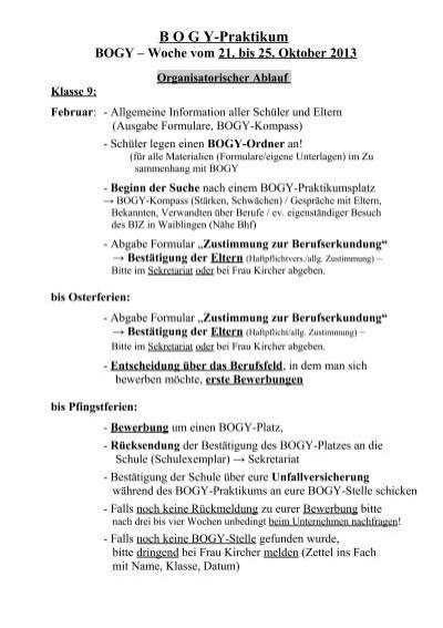 b o g y praktikum fsg fellbach - Bewerbung Bogy