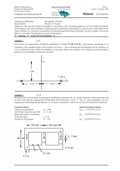 grundlagen der elektrotechnik iii klausur ws 2000 2001. Black Bedroom Furniture Sets. Home Design Ideas