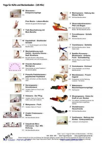 Beckenboden kräftigen und entspannen mit Hatha Yoga sanft ...
