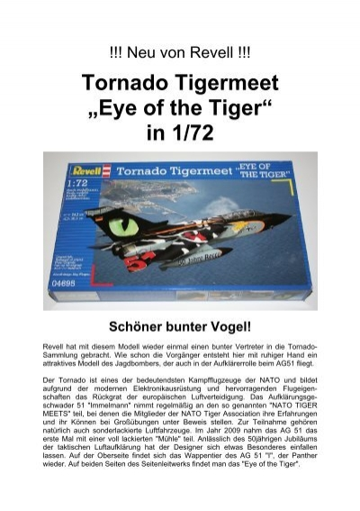 "REVELL® Modellbausatz 04695-1:72 NEU TORNADO TIGERMEET /""EYE OF THE TIGER/"""