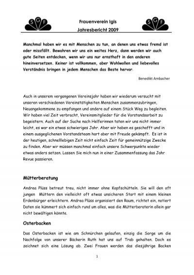 Igis-Landquart 4/2009 - Bezirksamtsblatt