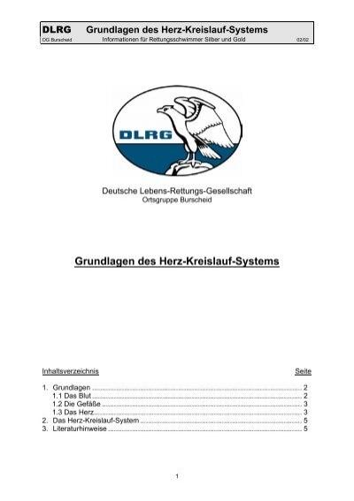 Grundlagen des Herz-Kreislauf-Systems - DLRG Ortsgruppe ...