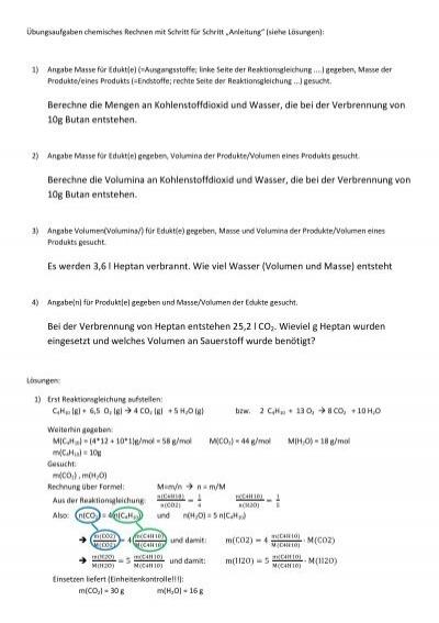 Schön Kapitel 12 Stöchiometrie Arbeitsblatt Antworten Bilder ...