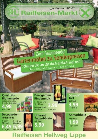 gartenm bel zu sonderpreisen raiffeisen hellweg lippe eg. Black Bedroom Furniture Sets. Home Design Ideas