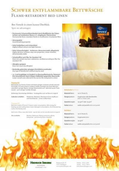 Schwer Entflammbare Bettwäsche Hotelierde