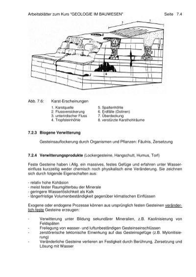 Schön Physikalische Und Chemische Verwitterung Arbeitsblatt ...