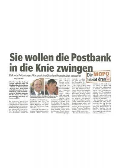 Buchungszeiten Postbank