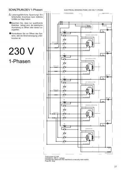 SCHALTPLAN 230 V 3-Phasen